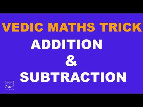 Vedic Maths Trick For Addition and Subtraction (Bank and SSC Exam) - in Hindi