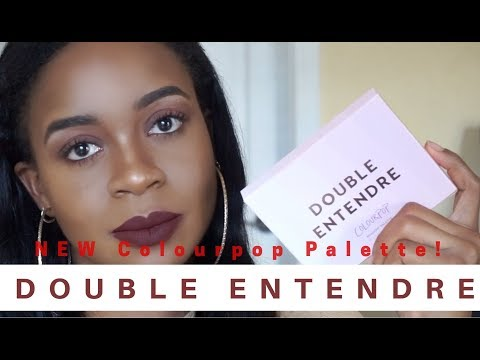 NEW Double Entendre Palette by Colourpop! + FALL Makeup Look | thatgirldemixo