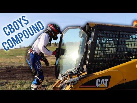 Building a dirt bike track!