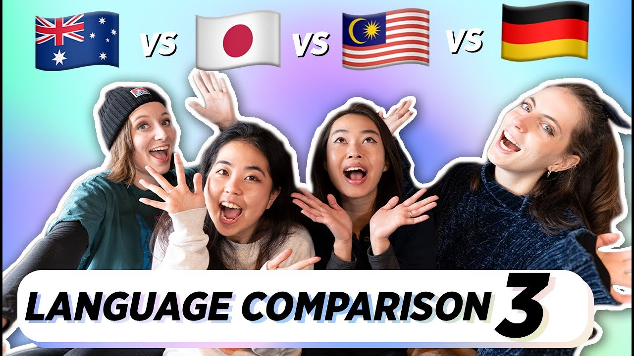 PART 3 - Differences In Pronunciation - English / Japanese / Malay / German 🇦🇺 🇯🇵 🇲🇾 🇩🇪