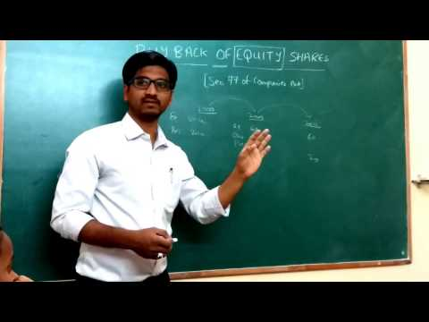 BUYBACK OF EQUITY SHARES LECTURE 1 PART 1