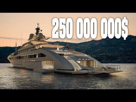 250,000,000$ УЛЬТРАСОВРЕМЕННАЯ СУПЕРЯХТА QUATTROELLE