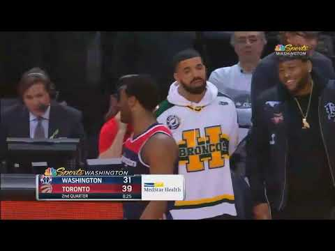 Drake SHUTS UP JOHN WALL AFTER TRASH TALKING! Raptors vs Wizards