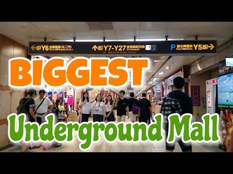 Exploring the BIGGEST Underground Mall | Taipei Metro Main Station |  Taiwan Travel