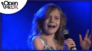 Repeat youtube video WRECKING BALL -- MILEY CYRUS performed by SAPPHIRE at Open Mic UK singing competition Reading