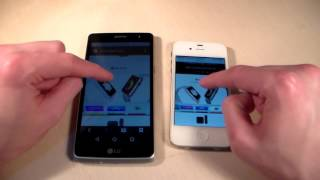 сравнение: LG Max X155 vs iPhone 4S (HD)