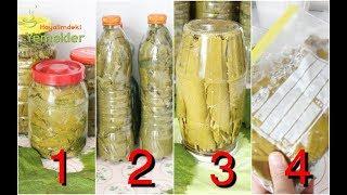 Uzun Ömürlü En İyi Asma Yaprağı Saklama Yöntemleri - Bozulma Yapmayan Üzüm Yaprağı Salamurası