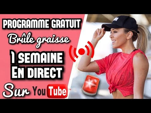 1 SEMAINE DE PROGRAMME EN DIRECT SUR YOUTUBE !! (100% BRULE GRAISSE)