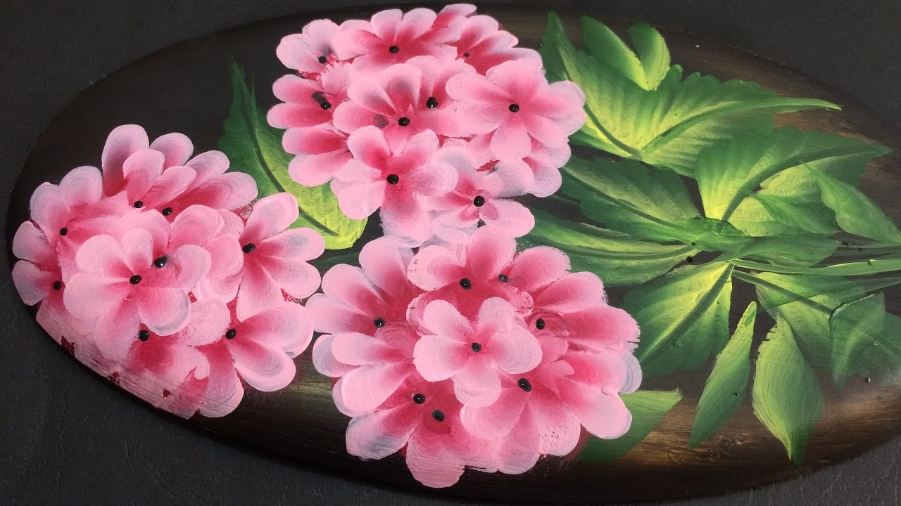 One stroke painting tutorial decorative flowers on plaster of paris one stroke painting tutorial decorative flowers on plaster of paris youtube mightylinksfo Images