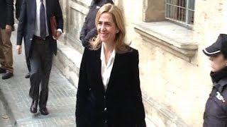 La Infanta Cristina declara ante el juez Castro