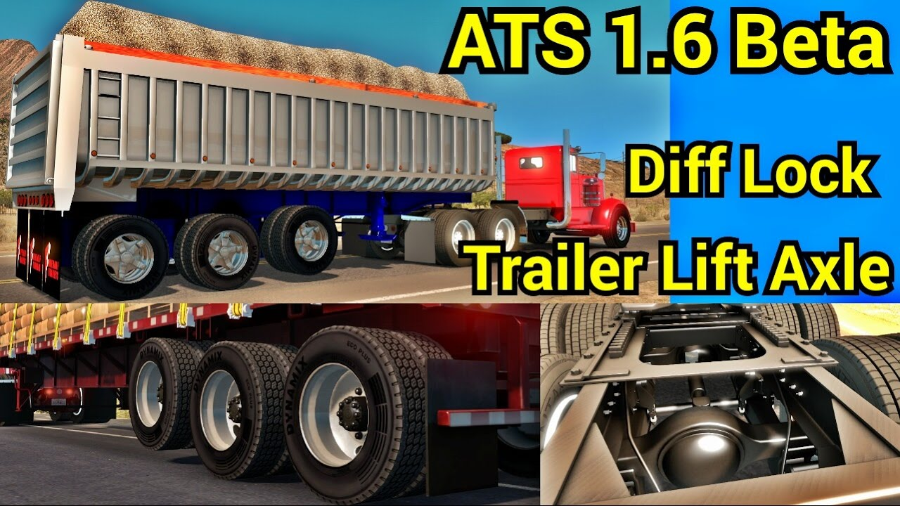 25k Lift Axle For Trailer : Ats beta diff lock trailer lift axle test