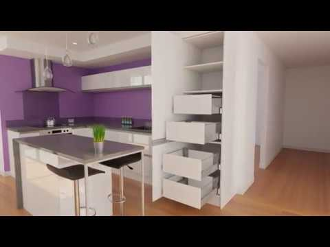 600 pantry with internal drawers