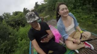 バッタンバンのバンブートレインとカンボジア女性一人旅とカンボジアガイド