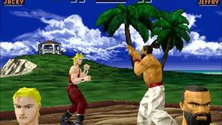 Virtua Fighter 2 (PC) - Debug Mode Gameplay