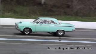 Wheelstanding '65 Dodge Coronet Nostalgia Super Stock 4-30-11