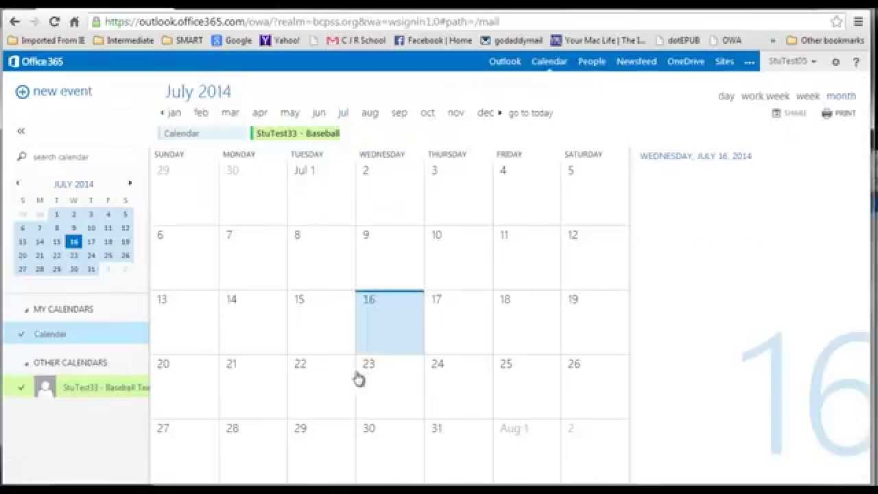 Office Calendar 365 : Office calendar create share youtube