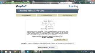 PayPal-Jak vložit peníze na účet