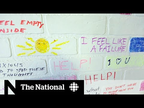 Breaking down mental health stigma with a blank canvass
