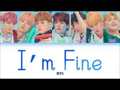"BTS (방탄소년단) ""I'm Fine"" (Sub Indo) Lirik {Color Coded-Rom-Ind}"