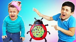 Super Celina and Hasouna Play with Fish Toy | سوبر سيلينا و حسونة يلعبون سمك للاطفال