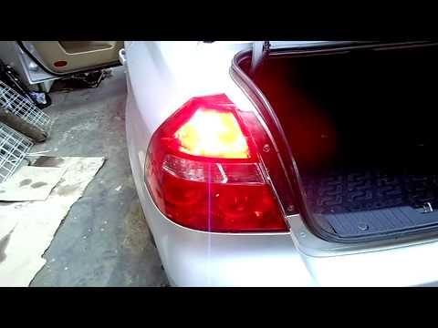 Замена лампочек стоп сигнала Chevrolet Aveo .