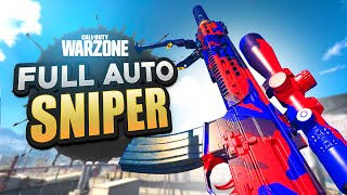 Using a FULL AUTO SNIPER in WARZONE!