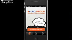 Promotional video for the Eurojargon Glossary iPhone app