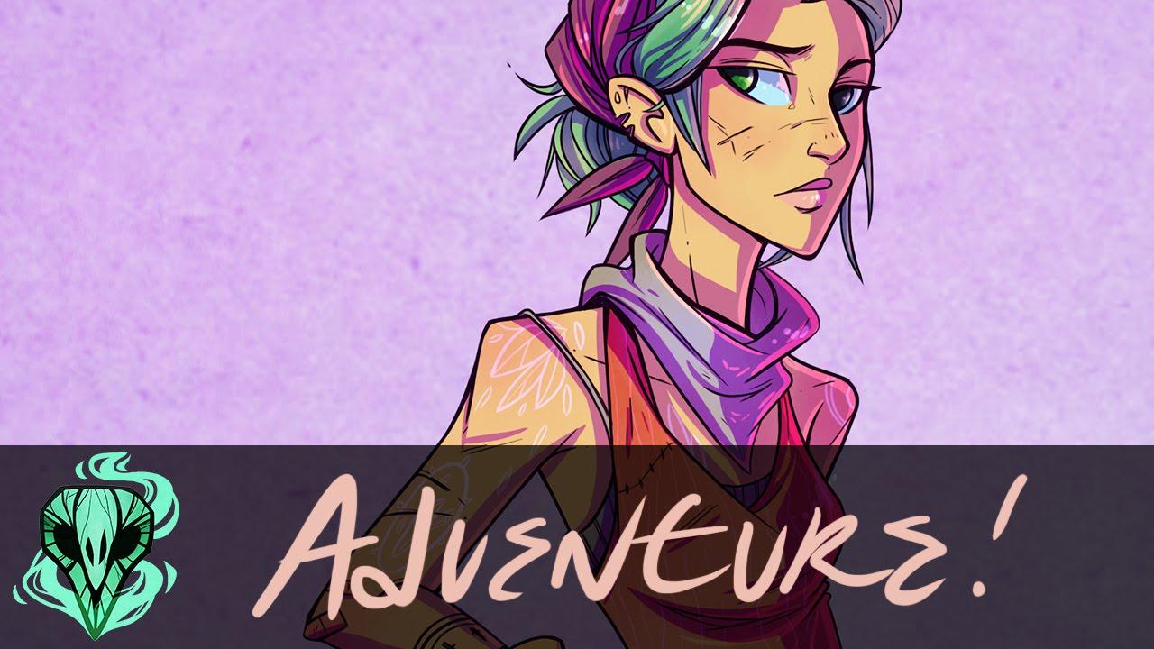 Adventure Girl Digital Character Design Youtube
