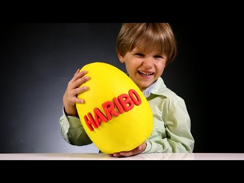 Giant Gummy Surprise Egg made of Play Doh