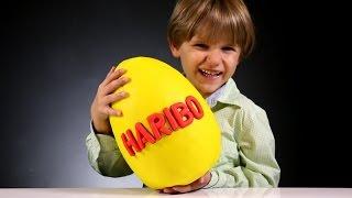Giant Haribo Gummy Surprise Egg made of Play Doh   Arcadius Kul