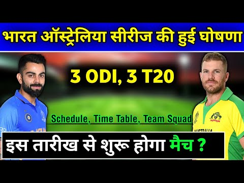 India Vs Australia T20 And ODI Series 2020 Schedule, Time Table, Team Squad | Ind Vs Aus 2020