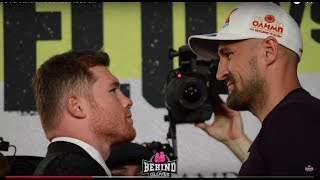 MASSIVE SIZE DIFFERENCE! CANELO & SERGEY KOVALEV FACE OFF FOR 1ST TIME!