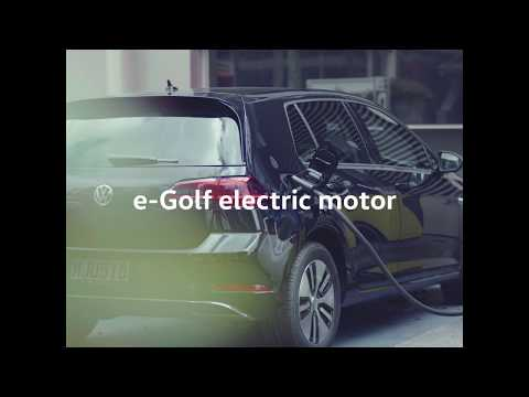The Volkswagen e-Golf - driving modes.