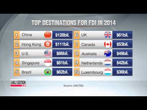 China was top destination for foreign direct investment last