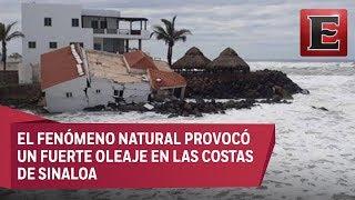 Tormenta Bud ocasiona derrumbe de casa en Navolato, Sinaloa