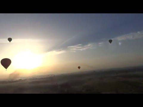 Hot Air Magic Balloons Luxor Valley of Kings EGYPT Part1
