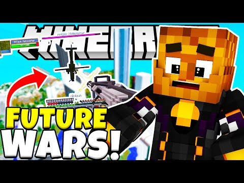*NEW* FUTURE WARS LASER WEAPONS MINECRAFT MODDED MINIGAME