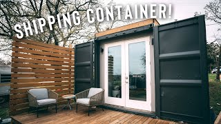 *minimal* Shipping Container Home | Airbnb Full Tour  Inspiration