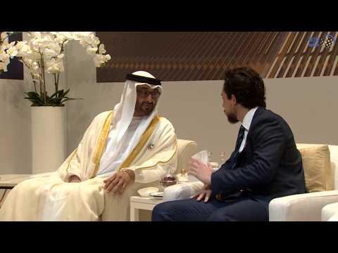 محمد بن زايد يستقبل ولي عهد الأردن