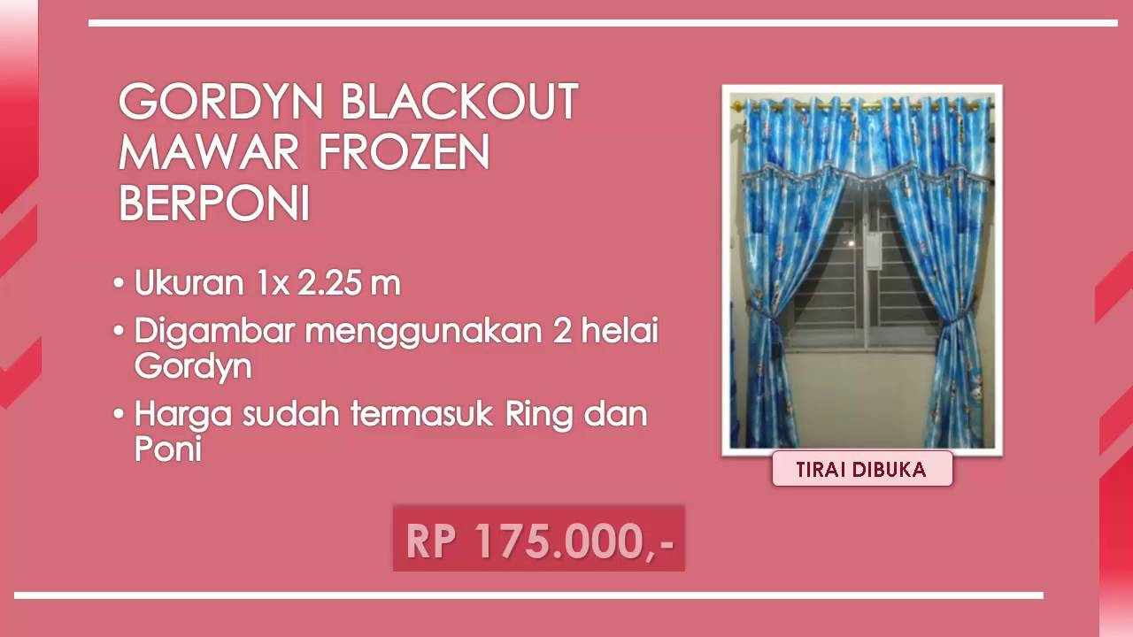 Gorden Murah Blackout Frozen Youtube Karakter