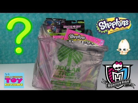 Dollar Tree Toy Haul | Shopkins Monster High Whack a Pack & More | PSToyReviews