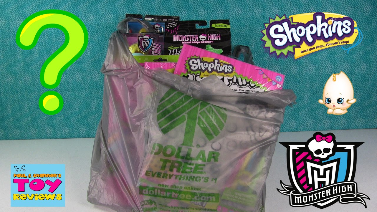 Dollar Tree Toys : Dollar tree toy haul shopkins monster high whack a pa
