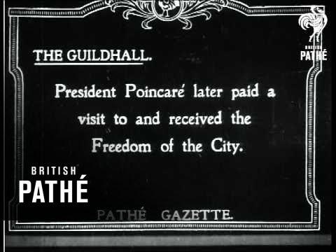 President Poincare Arrives At Dover (1919)