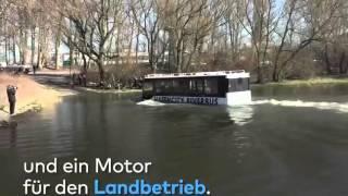 Haffencity River Bus - It can go through the river - Xe buýt đi có thể đi qua sông