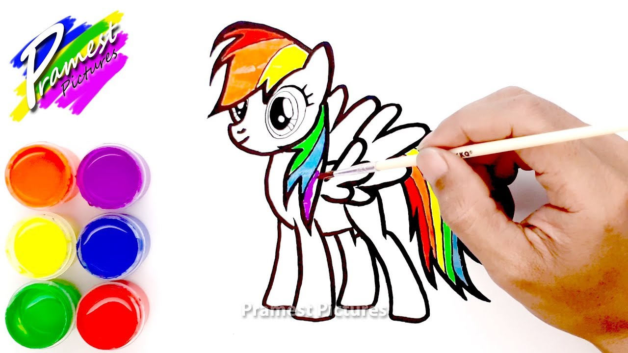 How To Draw Rainbow Dash My Little Pony Coloring Pages