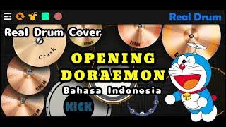 OPENING DORAEMON VERSI BAHASA INDONESIA (REAL DRUM COVER)