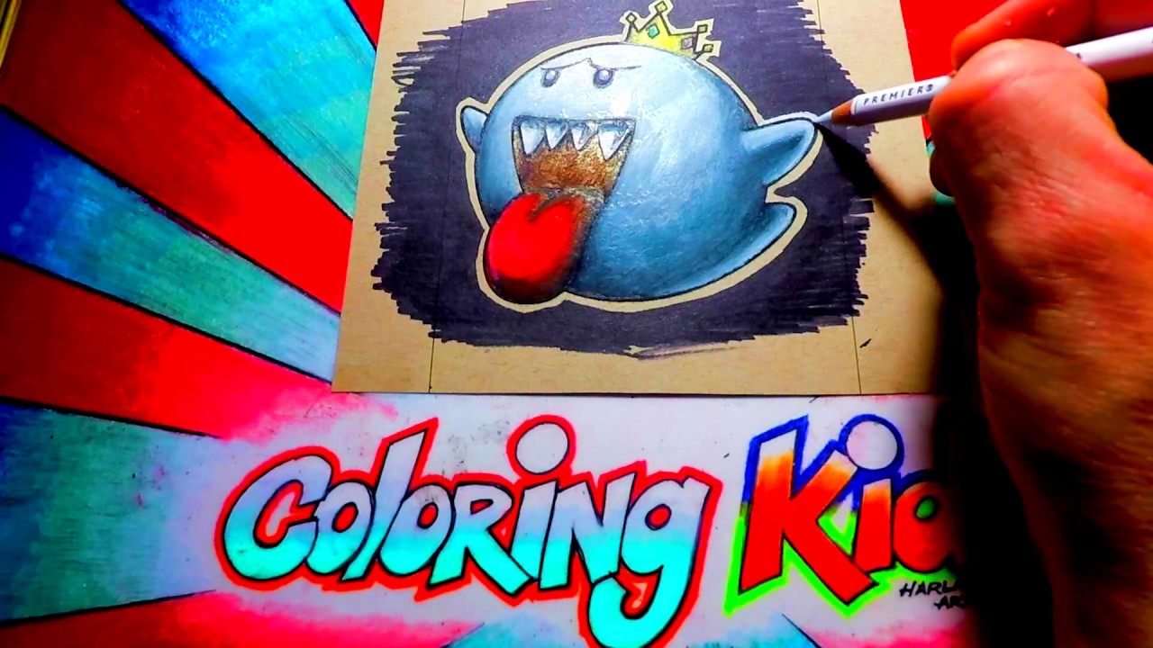 how to color mario brothers coloring pages for kids learn with