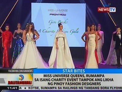 Miss Universe queens, rumampa sa isang charity event tampok ang likha ng Pinoy fashion designers