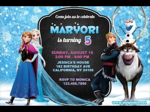 Frozen Invitations Template Free from i.ytimg.com