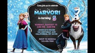 free editable frozen invitations